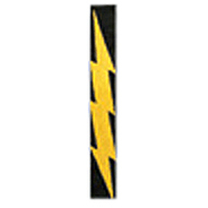 "LM Products Adjustable 2"" Guitar Strap - Lightning Bolt Design"