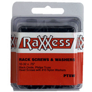 Raxxess Rack Screws and Washers - pack of 100