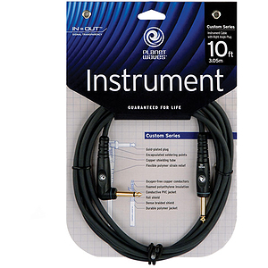 Planet Waves Custom Series Guitar Cable - 20-foot, right-angle plug