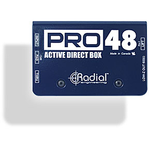 Radial Engineering R8001105 Pro48 Active Direct Box