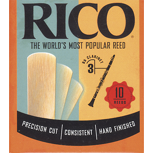 Rico Bb Clarinet Reeds - Thickness: 3 (box of 10)