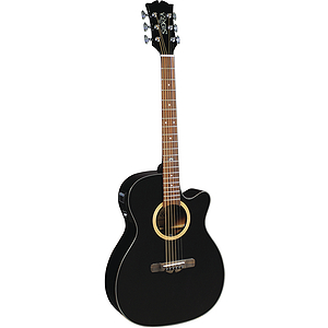 Sierra Sunrise Auditorium Acoustic Electric Guitar - Black