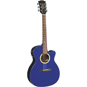 Sierra Sunrise Auditorium Acoustic Electric Guitar - Trasparent Blue