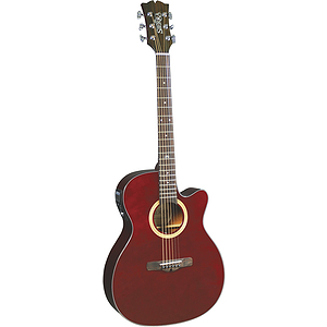 Sierra Sunrise Auditorium Acoustic Electric Guitar - Wine Red