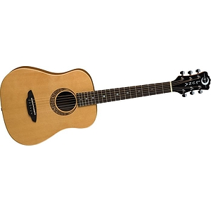 Luna Guitars Muse Safari Series Spruce 3/4 Size Travel Acoustic Guitar Natural