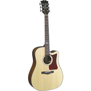 Sierra Alpine Acoustic Electric Cutaway Guitar - Natural Gloss