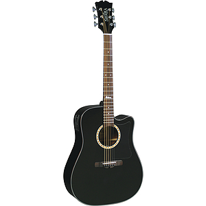 Sierra Alpine Acoustic Electric Cutaway Guitar - Black Gloss