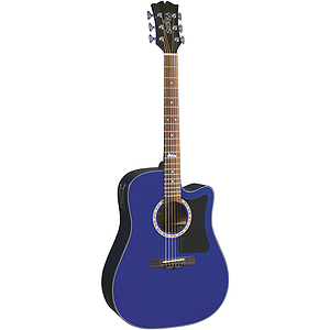 Sierra Alpine Acoustic Electric Cutaway Guitar - Transparent Blue