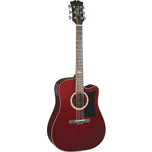 Sierra Alpine Acoustic Electric Cutaway Guitar - Wine Red