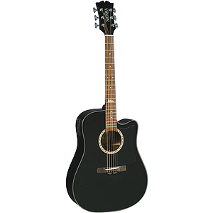 Sierra Alpine Acoustic Electric Guitar - Black Gloss - with free guitar stand!