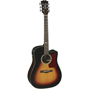 Sierra SDS55CETS Alpine Acoustic-Electric Guitar - Tobacco Sunburst