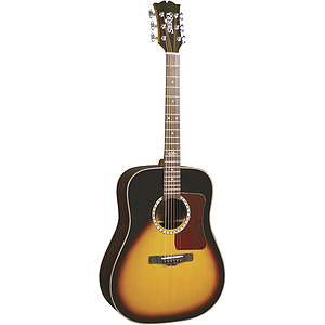 Sierra Sequoia Acoustic Dreadnought Guitar - Vintage Sunburst - Gloss