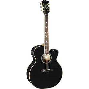 Sierra SJ88CEBK Tahoe Series Acoustic-Electric Guitar - Black