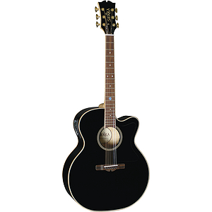 Sierra SJS98CEBK Tahoe Series Acoustic-Electric Guitar - Black