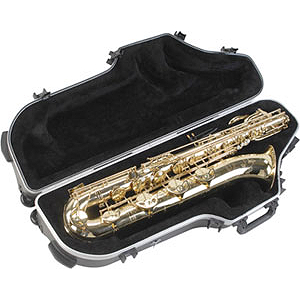 SKB SKB-455W Contoured Baritone Sax Case with Wheels