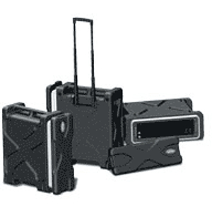 SKB Roll X Rack Case w/Wheels and Handle - 3 Space