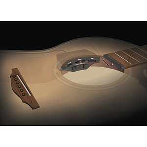 SH Sonic Nanoflex Soundhole Preamp with Nanoflex Pickup for Acoustic & Classical Guitar