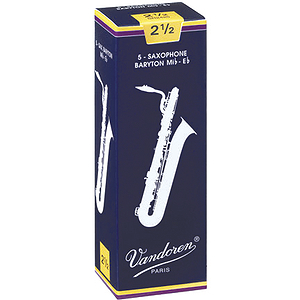 Vandoren Traditional Series Baritone Sax Reeds - thickness: 3 - box of 5