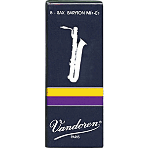 Vandoren Traditional Series Baritone Sax Reeds - thickness: 4 - box of 5
