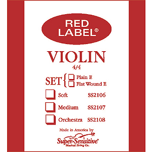 Super-Sensitive Violin Strings - 4/4 size, 1 set