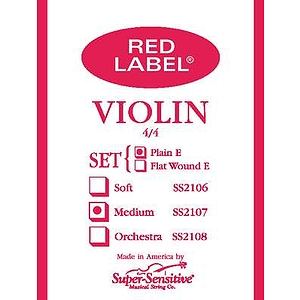 Super-Sensitive Violin Strings - 1/4 size, 1 set