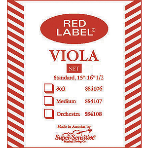 Super-Sensitive Viola Strings - full size, 1 set