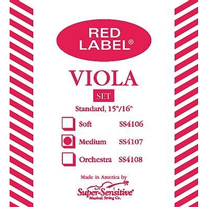 "Super-Sensitive Viola Strings - 13"", 1 set"