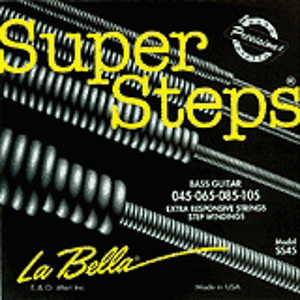 La Bella Super Steps Bass Guitar Strings - Standard Light, 1 set