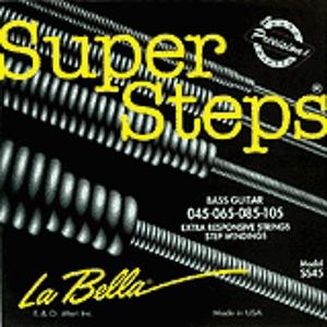 La Bella Super Steps Bass Guitar Strings - Standard Light, 1 set