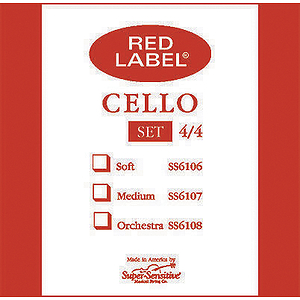 Super-Sensitive Cello Strings - 4/4 size, 1 set