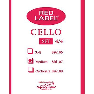 Super-Sensitive Cello Strings - 1/2 size, 1 set