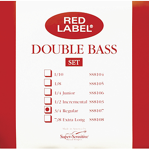 Super-Sensitive Upright Bass Strings - 3/4-size, 1 set