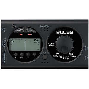 Boss TU-88 Micro Monitor Tuner and Metronome - Black