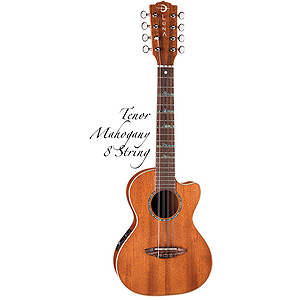 Luna High Tide 8-string Tenor Acoustic-Electric Ukulele - Mahogany