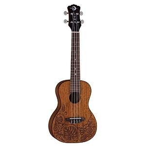 Luna Guitars Mahogany Mo'o Concert Ukulele w/ Lizard Design and Gigbag