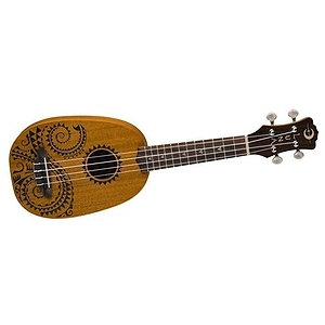 Luna Guitars Tattoo Pineapple Soprano Ukulele Mahogany