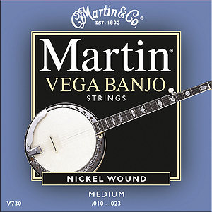 Martin Vega 5-string Banjo Strings - Medium, 3 Sets