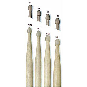 Vic Firth American Classics 5-A Drumsticks - Wood tip, 3 pairs