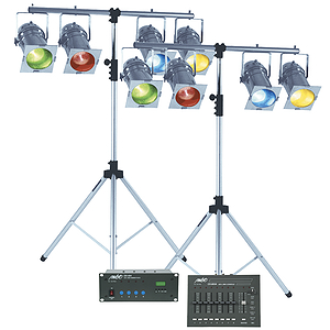 "MBT ""Week-Ender"" DMX Professional Stage Lighting Package - Chrome"