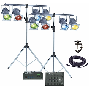 "MBT ""Week-Ender"" DMX Professional Stage Lighting Package - Black"