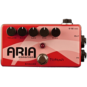 Pigtronix Aria Distortion Guitar Effects Pedal