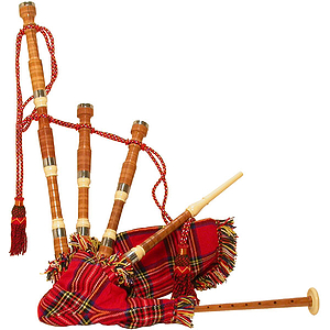 Bagpipe, Miniature, Cocus, Tartan Cover