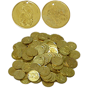 Brass Coins, Medium, 25mm, 100 Count