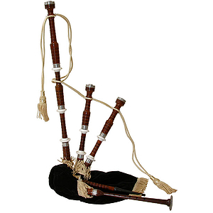 Bagpipe, Rosewood, Black Cover, Syn. Bag
