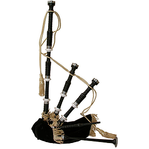 Bagpipe, Black Rosewood Black Cover, Syn Bag