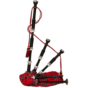 Bagpipe, Black Rosewood, Tartan, Syn Bag