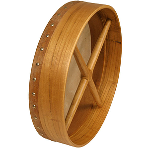 "Bodhran, 14""x3.5"", Fix, Mulberry, Cross"