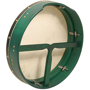 Bodhran, 16&quot;x3.5&quot;, Tune, Green, T-Bar