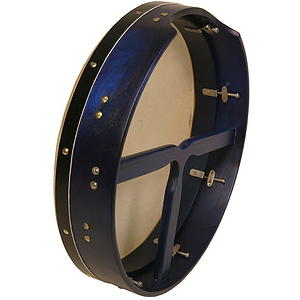 "Bodhran, 16""x3.5"", Tune, Blue, T-Bar"