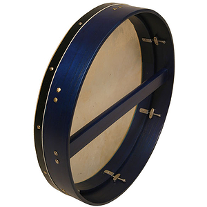 "Bodhran, 18""x3.5"", Tune, Blue, Single"